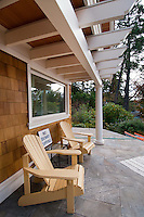 Architectural photos of a private oceanside residence near Victoria, BC features classic design and elegant trim in a traditional design