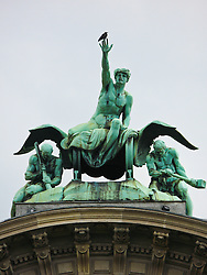 The statue outside Lucerne's train station, Switzerland, August 2011.