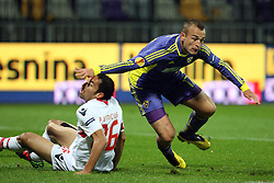 Paulo Vinicius of NK Braga and Dalibor Volas of NK Maribor at 3th round of European Leauge football match between Nk Maribor and Nk Braga, November 20, 2011, in Maribor, Slovenia (Photo by Urban Urbanc / Sportida )
