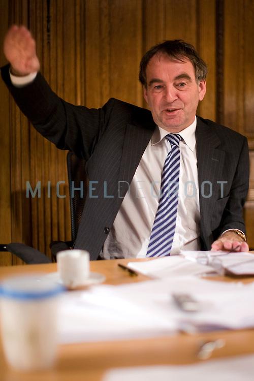 Pieter van Geel, fractievoorzitter CDA in Den Haag, Netherlands on December  09, 2008. (photo by Michel de Groot)