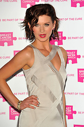 Natasha Leigh attends the launch party for Breast Cancer Campaign at Tower 42, London, England, October 1, 2012. Photo by Chris Joseph / i-Images.