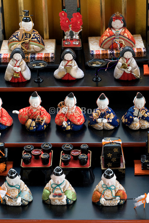 Hinamatsuri dolls set up at home to mark Girls Day on March 3rd Japan traditional culture