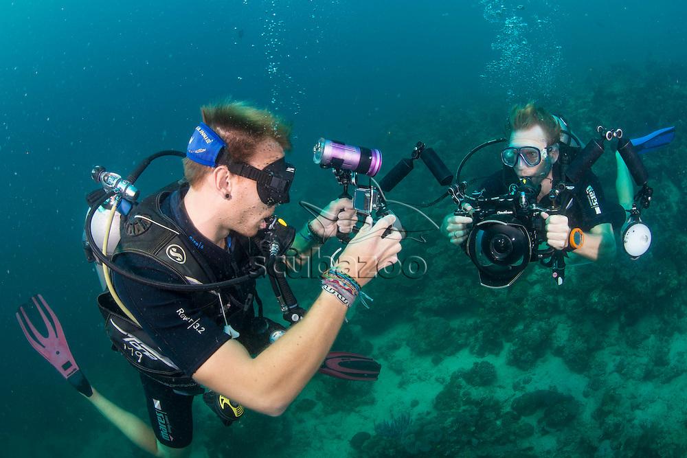 Behind the scenes BFB, Mabul, Sabah, Malaysia, Borneo, Celebes Sea,