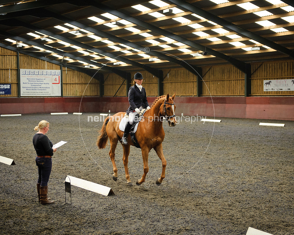 Willerby Hill Competition Yard, Willerby, East Yorkshire. Run by husband and wife team Ian and Debbie Leak with their two daughters Natasha and Olivia. Pictured The yards competition arena