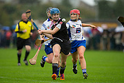 24/09/2016, Intermediate Camogie Final at Trim.<br /> Boardsmill vs Dunderry<br /> Anna Byrne (Dunderry) & Sarah Bagnall (Boardsmill)<br /> Photo: David Mullen /www.cyberimages.net / 2016<br /> ISO: 800; Shutter: 1/1328; Aperture: 4; <br /> File Size: 2.7MB<br /> Print Size: 8.6 x 5.8 inches