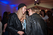SUKI WOODHOUSE;  GEORGIA JAGGER;;  The Vogue Festival 2012 in association with Vertu- cocktail party. Royal Geographical Society. Kensington Gore. London. SW7. 20 April 2012.