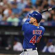 NEW YORK, NEW YORK - July 02: Anthony Rizzo #44 of the Chicago Cubs batting during the Chicago Cubs Vs New York Mets regular season MLB game at Citi Field on July 02, 2016 in New York City. (Photo by Tim Clayton/Corbis via Getty Images)