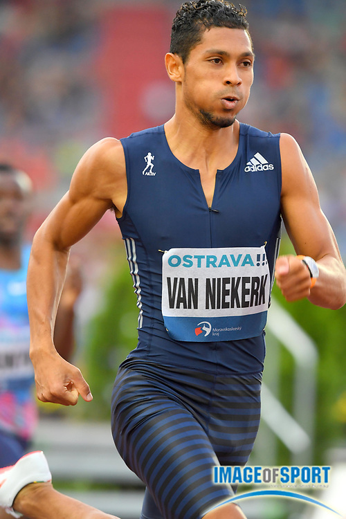 Wayde Van Niekerk (RSA) wins the 300m in a world record 30.81 during the 56th Ostrava Golden Spike in an IAAF World Challenge meeting at Mestky Stadion in Ostrava, Czech Republic on Wednesday, June 28, 20017. (Jiro Mochizuki/Image of Sport)