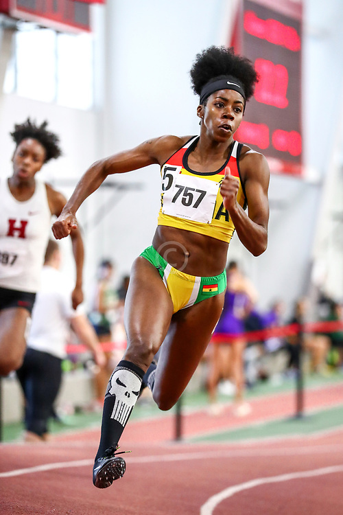 womens 200 meters, Gemma Acheampong<br /> Boston University Scarlet and White<br /> Indoor Track & Field, Bruce LeHane