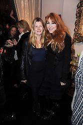 Left to right, SARAH PARKER BOWLES and CHARLOTTE TILBURY at the opening of Jade Jagger's shop at 43 All Saints Road, London W11 on 25th November 2009.