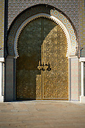 Morocco, Fez. Dar el-Makhzen's door (Royal Palace).