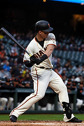 SAN FRANCISCO, CA - APRIL 08: Tyler Austin #19 of the San Francisco Giants at bat against the San Diego Padres during the first inning at Oracle Park on April 8, 2019 in San Francisco, California. The San Diego Padres defeated the San Francisco Giants 6-5. (Photo by Jason O. Watson/Getty Images) *** Local Caption *** Tyler Austin
