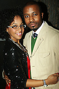 l to r: Kreany Vargas and Torian Robinson at The Birthday Celebration for Kelli Coleman held at The Avenue on Decemeber 6, 2009 in New York City