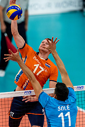 08-09-2018 NED: Netherlands - Argentina, Ede<br /> Second match of Gelderland Cup / Michaël Parkinson #17 of Netherlands