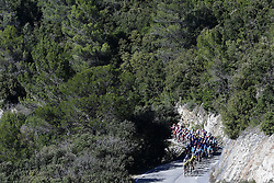 March 15, 2019 - Brignoles, France - BRIGNOLES, FRANCE - MARCH 15 : General view of the peloton during stage 6 of the 2019 Paris - Nice cycling race with start in Peynier and finish in Brignoles  (176,5 km) on March 15, 2019 in Brignoles, France, 15/03/2019 (Credit Image: © Panoramic via ZUMA Press)