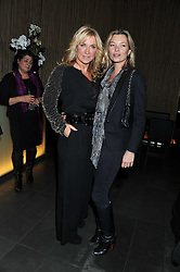 "Left to right, MEG MATHEWS and KATE MOSS at a party to celebrate the launch of Meg Matthews' blog - ""Meg says"" at the bar at Ni Ju San, 23 St.James's Street, London on 1st December 2011."