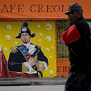 MIAMI, FLORIDA - FEBRUARY 8, 2016<br /> A painting on the side of a Chef Creole restaurant in Miami's Little Haiti which is a neighborhood formerly known as Lemon City.<br /> (Photo by Angel Valentin)