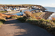 View over Portpatrick harbour, Southern Upland Way.