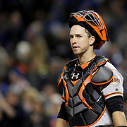 NEW YORK, NEW YORK - APRIL 29:  Catcher Buster Posey #28 of the San Francisco Giants during the New York Mets Vs San Francisco Giants MLB regular season game at Citi Field on April 29, 2016 in New York City. (Photo by Tim Clayton/Corbis via Getty Images)