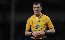 Match Referee Tom Foley - Photo mandatory by-line: Harry Trump/JMP - Mobile: 07966 386802 - 14/02/15 - SPORT - Rugby - Aviva Premiership - Sandy Park, Exeter, England - Exeter Chiefs v Newcastle Falcons