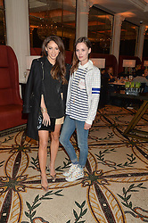 Left to right, DANIELLE PEAZER and CHARLOTTE de CARLE at a dinner hosted by Amy Molyneaux and Percy Parker of fashion label PPQ to celebrate the PPQ AW 2015 collection 'Persephone' held at Braserie Chavot, 41 Conduit Street, London on 22nd February 2015.