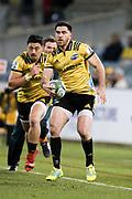 Nehe Milner-Skudder during the Super Rugby match, Brumbies V Hurricanes, GIO Stadium, Canberra, Australia, 30th June 2018.Copyright photo: David Neilson / www.photosport.nz