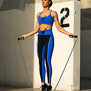 Kamilla Falkowski poses for a fitness portrait on Friday, Jan. 18, 2019 in Venice, Calif.