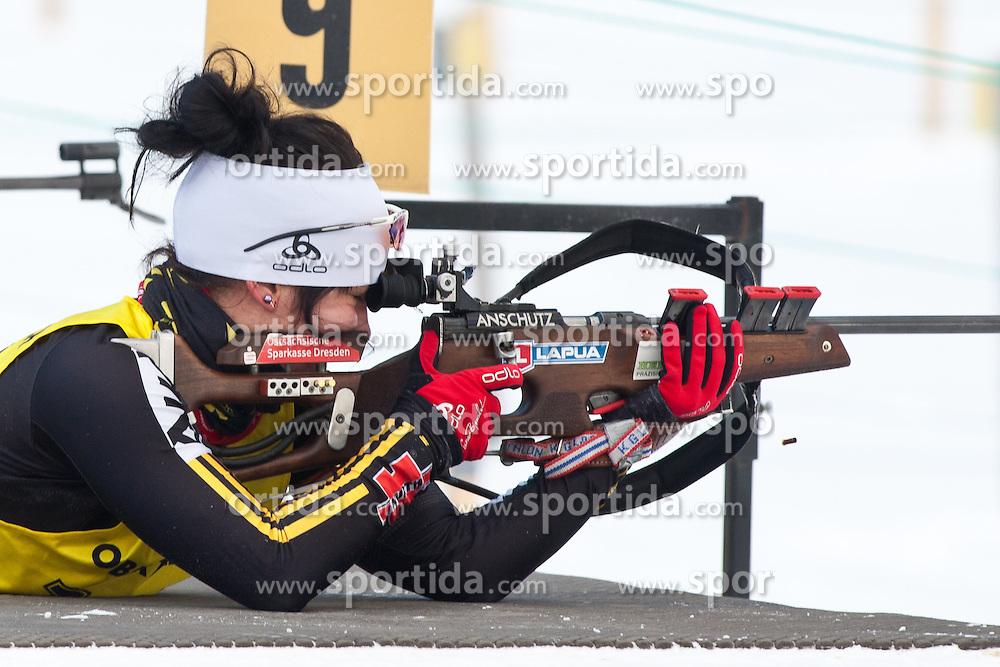 12.12.2010, Biathlonzentrum, Obertilliach, AUT, Biathlon Austriacup, Verfolgung Lady, im Bild Denise Seyfferth (GER, #147). EXPA Pictures © 2010, PhotoCredit: EXPA/ J. Groder