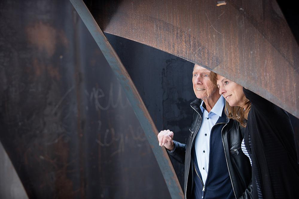 20170426 GENK C-Mine mijnterril Swartenbroekx Rene en An vader en dochter dubbelportret pict FRANK ABBELOOS