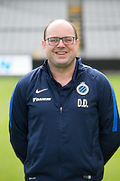 Club's physiotherapist Dimitri Dimi Dobbenie poses for the photographer during the 2015-2016 season photo shoot of Belgian first league soccer team Club Brugge, Friday 17 July 2015 in Brugge