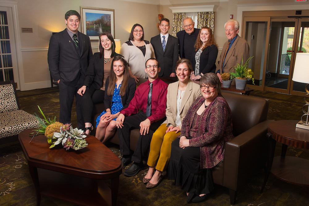 2014 Ohio University Seniors of the Cutler Scholar program and staff. Photo by Ohio University / Jonathan Adams