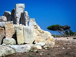 MALTA ZURRIEQ 23JUL06 - Neolithic temple complex Hagar Qim near the town of Zurrieq. The Maltese prehistoric temples are the oldest freestanding buildings ever discovered, dating back as far as 3600 BC...jre/Photo by Jiri Rezac..© Jiri Rezac 2006..Contact: +44 (0) 7050 110 417.Mobile:  +44 (0) 7801 337 683.Office:  +44 (0) 20 8968 9635..Email:   jiri@jirirezac.com.Web:    www.jirirezac.com
