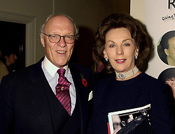 MR & MRS GILES SHEPARD former Managing Director of the Savoy, at a party in London on 7th November 2000.OIT 96