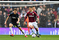 March 16, 2019 - Birmingham, England, United Kingdom - Anwar El Ghazi (22) of Aston Villa with Middlesbrough defender Dael Fry (20) looking to make a tackle during the Sky Bet Championship match between Aston Villa and Middlesbrough at Villa Park, Birmingham on Saturday 16th March 2019. (Credit Image: © Mi News/NurPhoto via ZUMA Press)