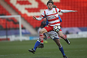 Alfie May during the The FA Cup 3rd round match between Doncaster Rovers and Rochdale at the Keepmoat Stadium, Doncaster, England on 6 January 2018. Photo by Daniel Youngs.
