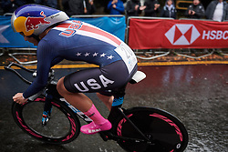 Chloe Dygert (USA) at UCI Road World Championships 2019 Elite Women's TT a 30.3 km individual time trial from Ripon to Harrogate, United Kingdom on September 24, 2019. Photo by Sean Robinson/velofocus.com