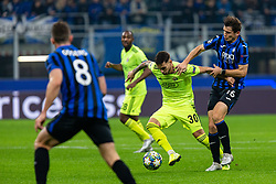 November 26, 2019, Milano, Italy: petar stojanovic (gnk dinamo zagreb) and marten de roon (atalanta)during Tournament round - Atalanta vs Dinamo Zagreb , Soccer Champions League Men Championship in Milano, Italy, November 26 2019 - LPS/Francesco Scaccianoce (Credit Image: © Francesco Scaccianoce/LPS via ZUMA Wire)