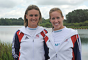 Reading, Great Britain,  GBR W2- left Heather STANNING and Helen GLOVER.  2011 GBRowing World Rowing Championship, Team Announcement.  GB Rowing  Caversham Training Centre.  Tuesday  19/07/2011  [Mandatory Credit. Peter Spurrier/Intersport Images]