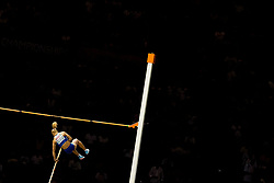 August 9, 2018 - Berlin, GERMANY - 180809 Nikoleta Kyriakopoulou of Greece competes in the women's pole vault final during the European Athletics Championships on August 9, 2018 in Berlin..Photo: Vegard Wivestad GrÂ¿tt / BILDBYRN / kod VG / 170199 (Credit Image: © Vegard Wivestad Gr¯Tt/Bildbyran via ZUMA Press)