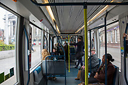 The interior of one of the National Express Transit (NET) trams in Nottingham, Nottinghamshire, United Kingdom.  (photo by Andrew Aitchison / In pictures via Getty Images)