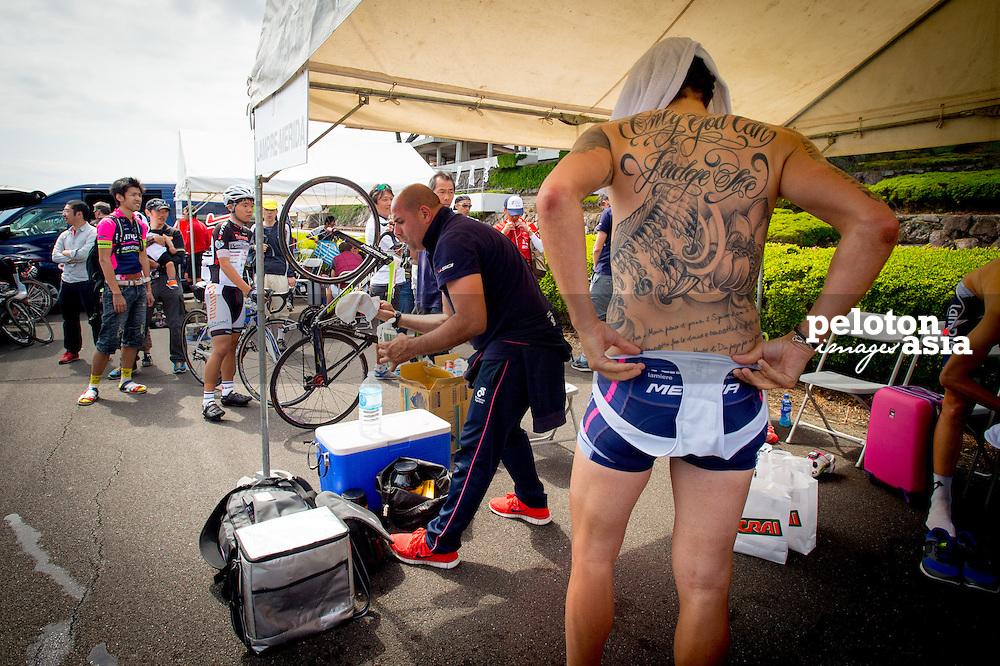 2014 Tour of Japan / stage5 / Japan / POZZATO Filippo (ITA) / Lampre - Merida / Tattoo