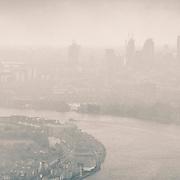 London city scape , shard, winter scene Thames