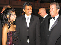 **EXCLUSIVE**.M. Night Shyamalan and wife Bhavna Vaswani..American Museum of The Moving Image Salutes Mel Gibson..Waldorf Astoria Hotel..New York, NY, USA..March 07, 2002..Photo By Celebrityvibe.com.To license this image please call (212) 410 5354; or Email: celebrityvibe@gmail.com ;.website: www.celebrityvibe.com.