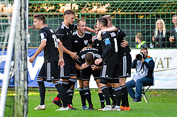 Nino Kouter of NS Mura and other players of NS Mura during football match between NS Mura and NK Maribor in 10th Round of Prva liga Telekom Slovenije 2018/19, on September 30, 2018 in Mestni stadion Fazanerija, Murska Sobota, Slovenia. Photo by Mario Horvat / Sportida