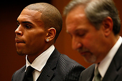 Aug. 25, 2009 - Los Angeles, California, U.S. - R&B singer CHRIS BROWN appears for sentencing at Los Angeles Superior Court for the case in which he pleaded guilty to assaulting his pop star girlfriend Rihanna in Hancock Park after a pre-Grammy Awards party. He was sentenced to 5 years probation and more than 1400 hours of labor orientated service. (Credit Image: © Pool/ZUMApress.com)