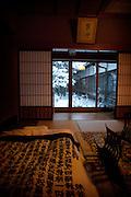 (En) January 2010 - Koyasan, Japan. A room at Rengejo-in temple.  (Fr) Janvier 2010 - Koyasan, Japon. Une chambre du temple Rengejo-in.