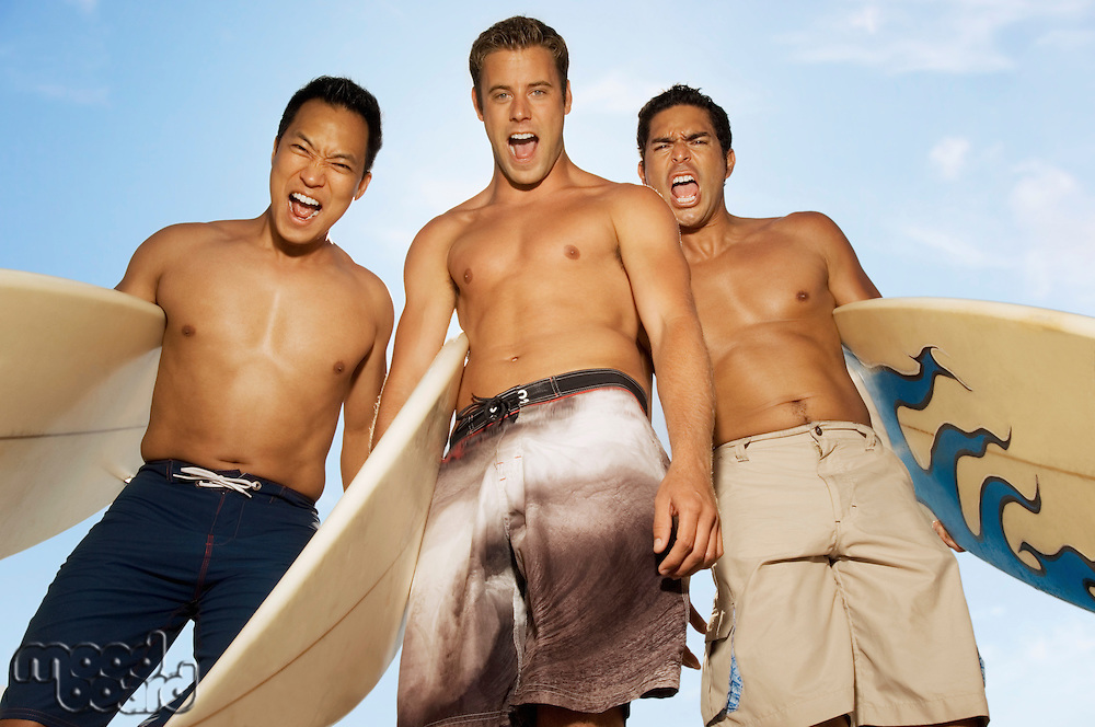Excited Surfer Dudes