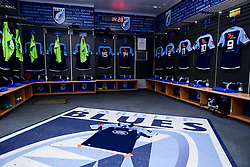 Guinness PRO14, Cardiff Arms Park, Cardiff, UK 23/02/2020<br /> Cardiff Blues vs Benetton Rugby<br /> General views of the Cardiff Blues changing room prior to kick off<br /> Mandatory Credit ©INPHO/Ryan Hiscott