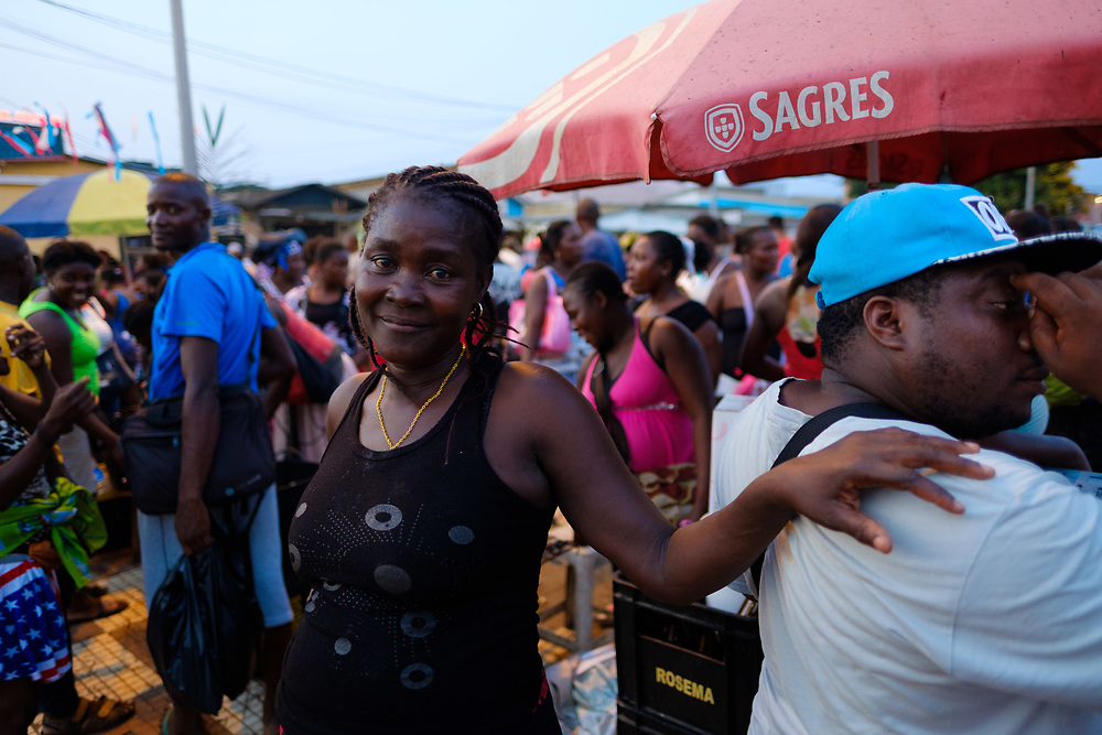 Portrait of a lady in São Tomé's market.