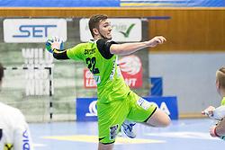 03.02.2017, BSFZ Suedstadt, Maria Enzersdorf, AUT, HLA, SG INSIGNIS Handball WESTWIEN vs HC FIVERS WAT Margareten, HLA Oberes Playoff, 1. Runde, im Bild Julian Schiffleitner (SG INSIGNIS Handball WESTWIEN) // during Handball League Austria, upper play off, 1 st round match between SG INSIGNIS Handball WESTWIEN and HC FIVERS WAT Margareten at the BSFZ Suedstadt, Maria Enzersdorf, Austria on 2017/02/03, EXPA Pictures © 2017, PhotoCredit: EXPA/ Sebastian Pucher